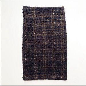 🌿Forever 21 Black & Gold Pencil Skirt